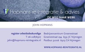 Visitekaartje John Hopmans